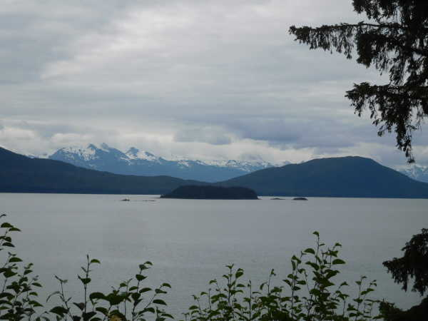 Gastineau Channel between the airport and city