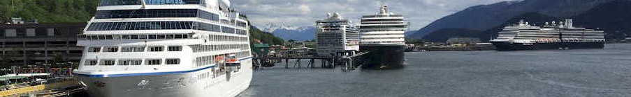 Cruise ships in Juneau Harbor