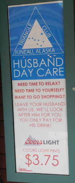 Husband Day Care sign
