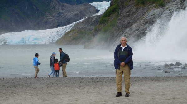 Nugget Falls and Mendenhall Glacier