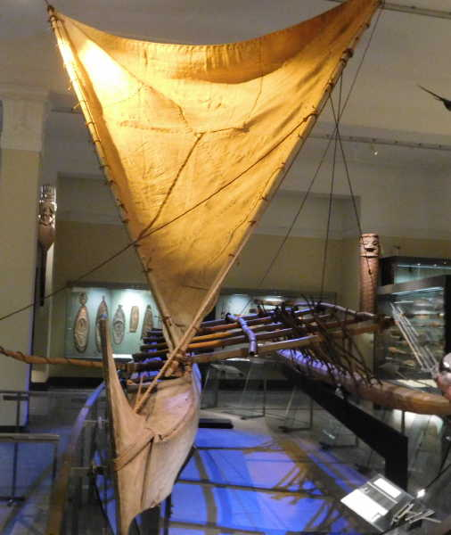 museum also has a smaller boat on display