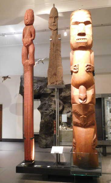 Museum had numerous totem poles