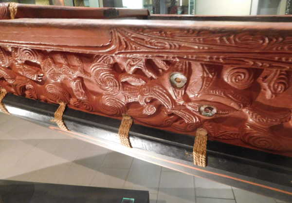 museum boat carving