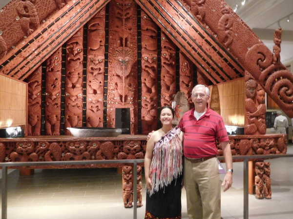 Maori performer after the museum show