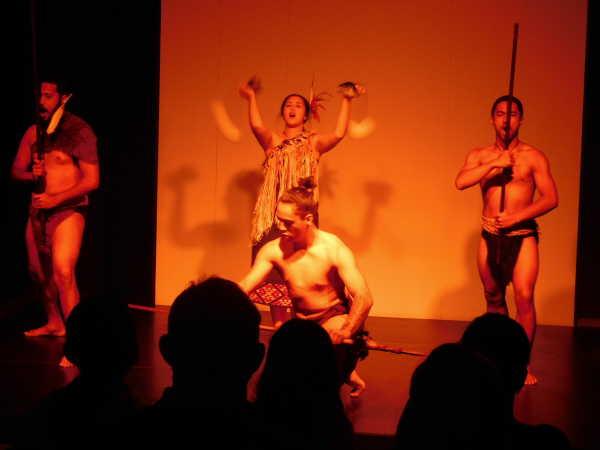 Maori Haka dance at the museum