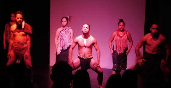 Maori dance at the museum