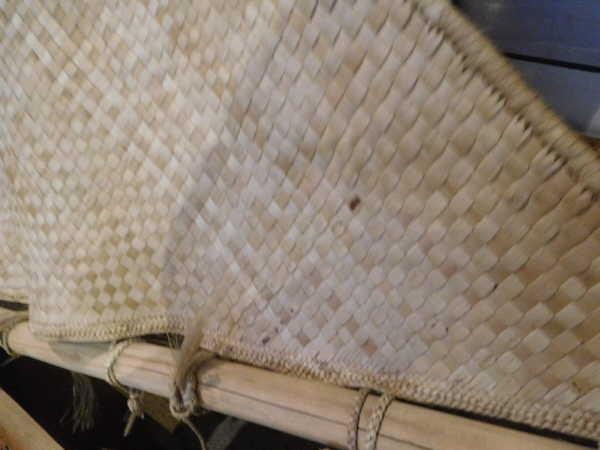 sail of reed mats
