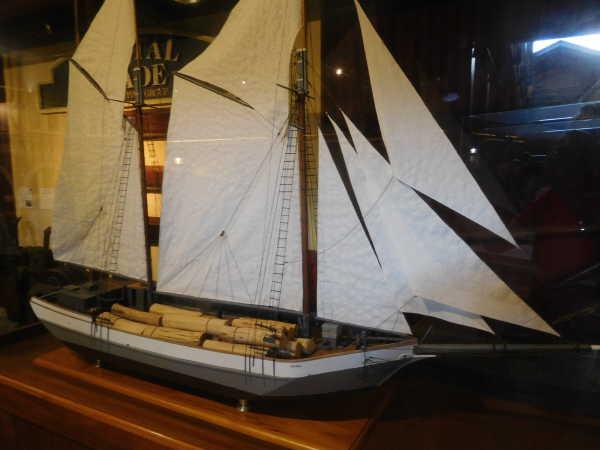 log sailboat